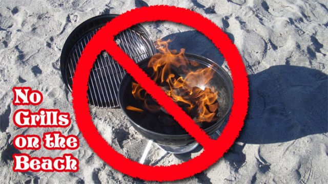 Grills Not Allowed on the Beach