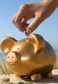 Beach Piggy Bank