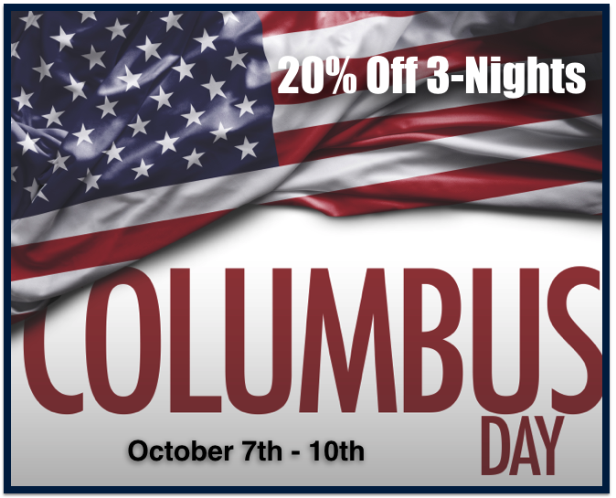 20% OFF 4-Days 3-Nights October 7th - 10th