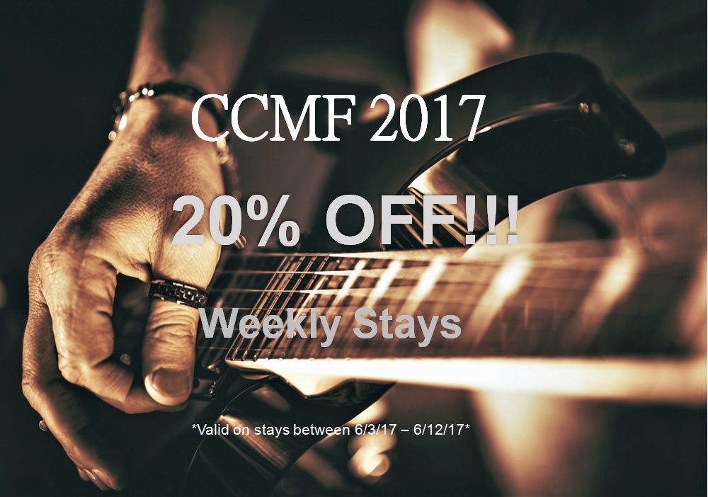 20% OFF Carolinian Country Music Festival Stays!!!