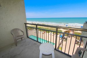 Direct oceanfront views from balcony