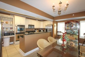 Overview of kitchen and dining areas