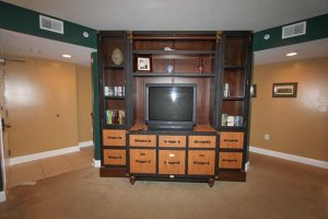 Second living room with upgraded TV