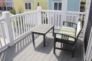 Balcony with comfortable seating