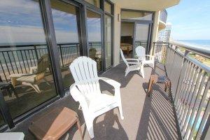 Balcony hangout area