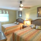 Tropics theme double guest bedroom