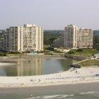 Sky view of resort