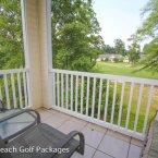 Balcony overlooking course
