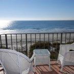 Outdoor balcony ocean view