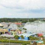 Amusement park guest room view