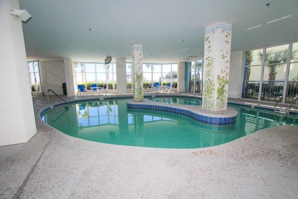 Ocean blue resort luxury oceanfront condo rentals - Indoor swimming pool myrtle beach sc ...